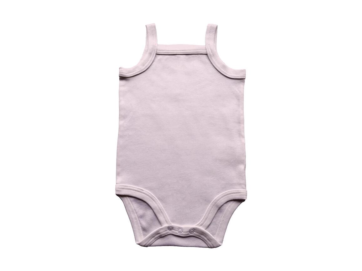 BabyBugz Baby Organic Strap Vest Bodysuit, Powder Pink, 12-18 bedrucken, Art.-Nr. 058474174