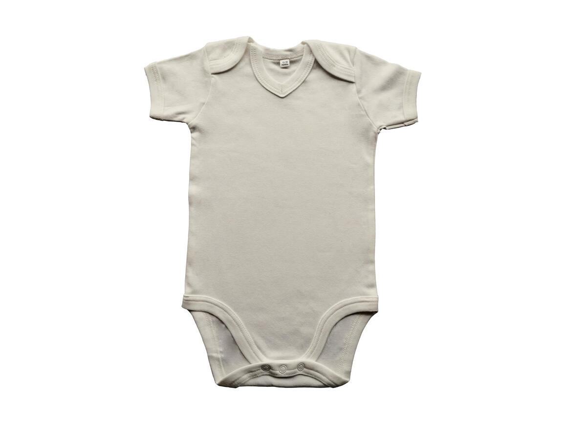 BabyBugz Baby Organic V-neck Bodysuit, Organic Natural, 3-6 bedrucken, Art.-Nr. 059470082