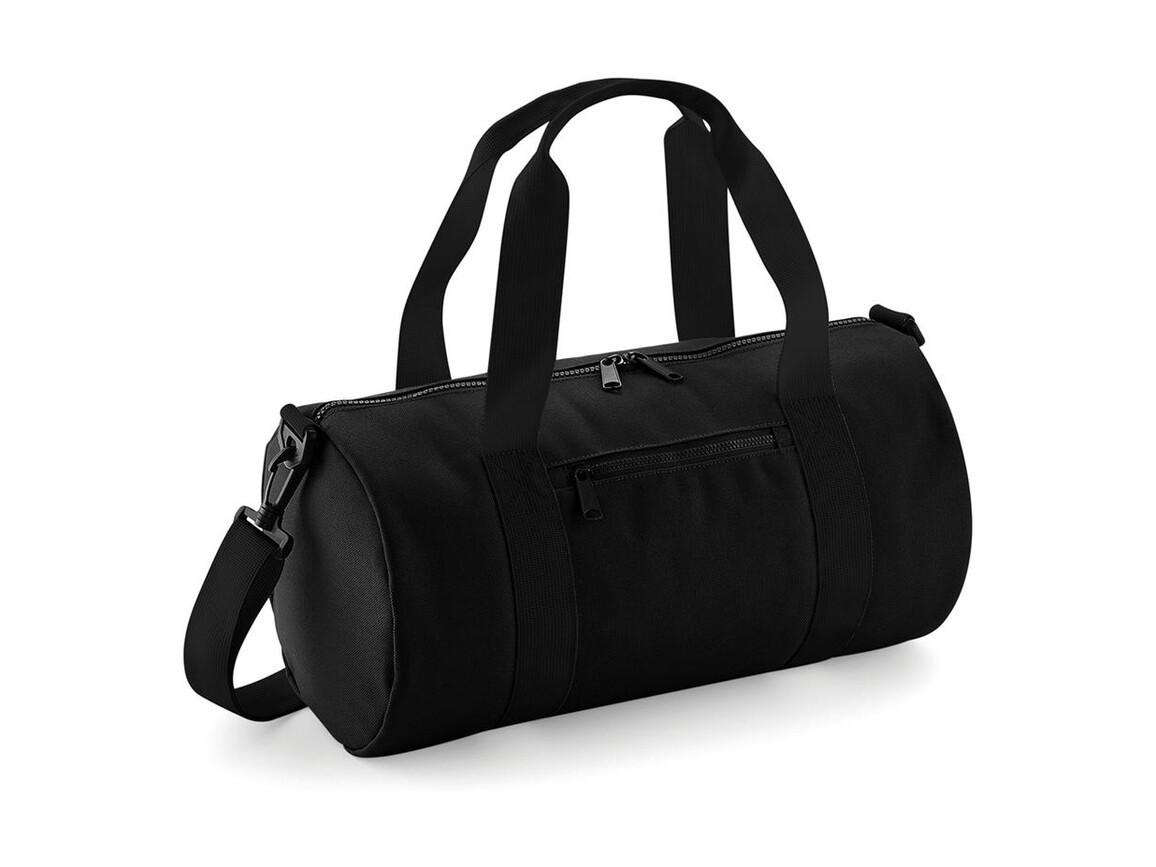 Bag Base Mini Barrel Bag, Black/Black, One Size bedrucken, Art.-Nr. 060291520