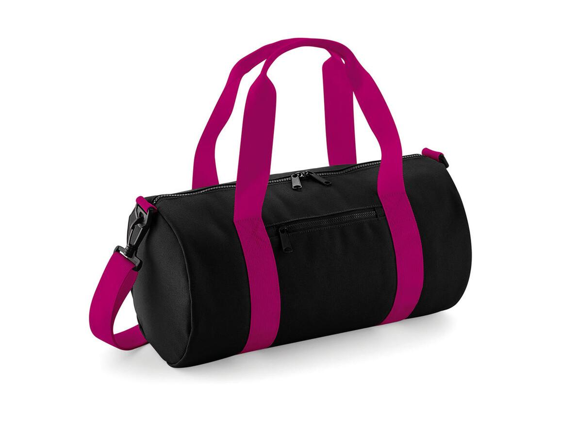 Bag Base Mini Barrel Bag, Black/Fuchsia, One Size bedrucken, Art.-Nr. 060291650