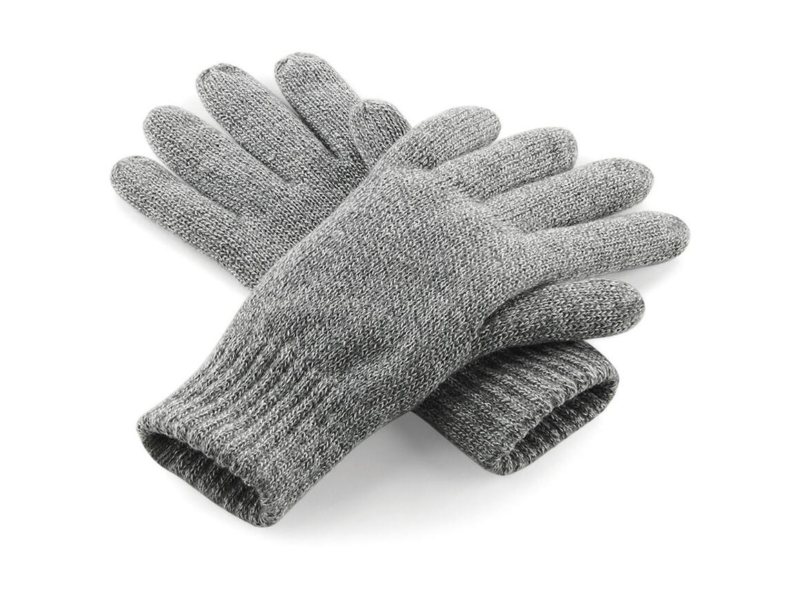 Beechfield Classic Thinsulate™ Gloves, Heather Grey, S/M bedrucken, Art.-Nr. 061691231