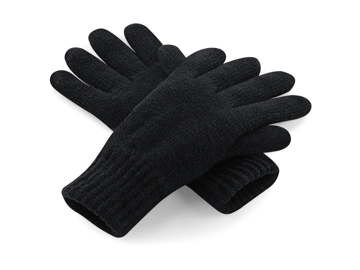 Beechfield Classic Thinsulate™ Gloves, Black, S/M bedrucken, Art.-Nr. 061691011