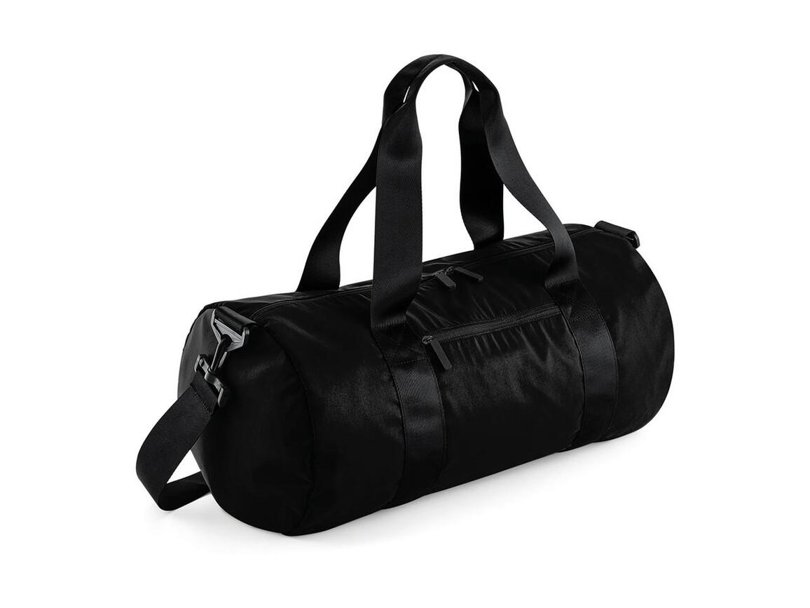 Bag Base Studio Barrel Bag, Jet Black, One Size bedrucken, Art.-Nr. 062291030