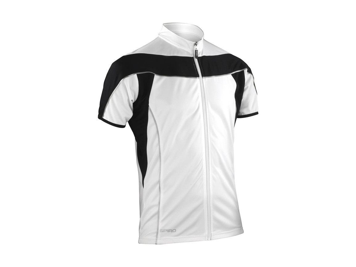 Result Bike Full Zip Top, White/Black, M bedrucken, Art.-Nr. 064330564