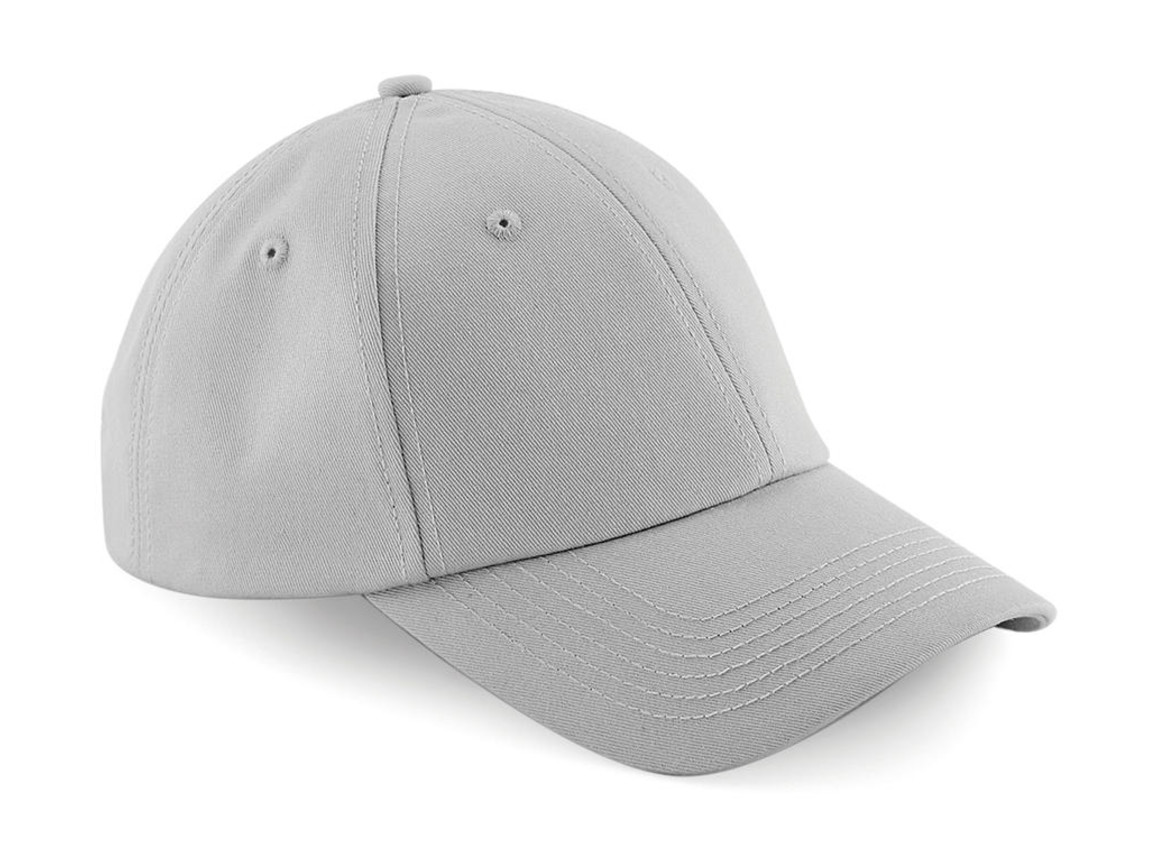 Beechfield Authentic Baseball Cap, Light Grey, One Size bedrucken, Art.-Nr. 064691380