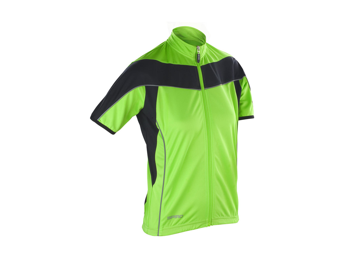 Result Ladies` Bike Full Zip Top, Neon Lime/Black, S (10) bedrucken, Art.-Nr. 065335563
