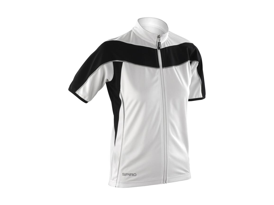 Result Ladies` Bike Full Zip Top, White/Black, M (12) bedrucken, Art.-Nr. 065330564