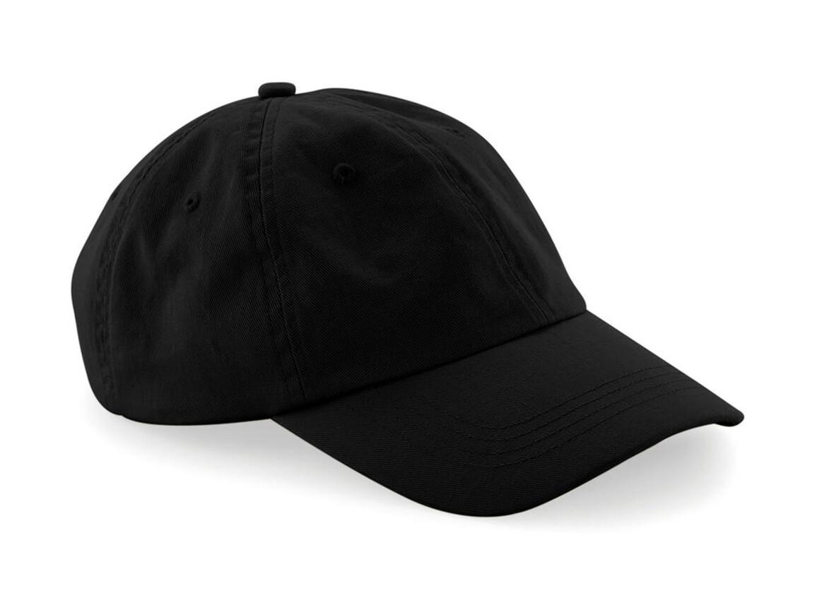 Beechfield Low Profile 6 Panel Dad Cap, Black, One Size bedrucken, Art.-Nr. 066691010