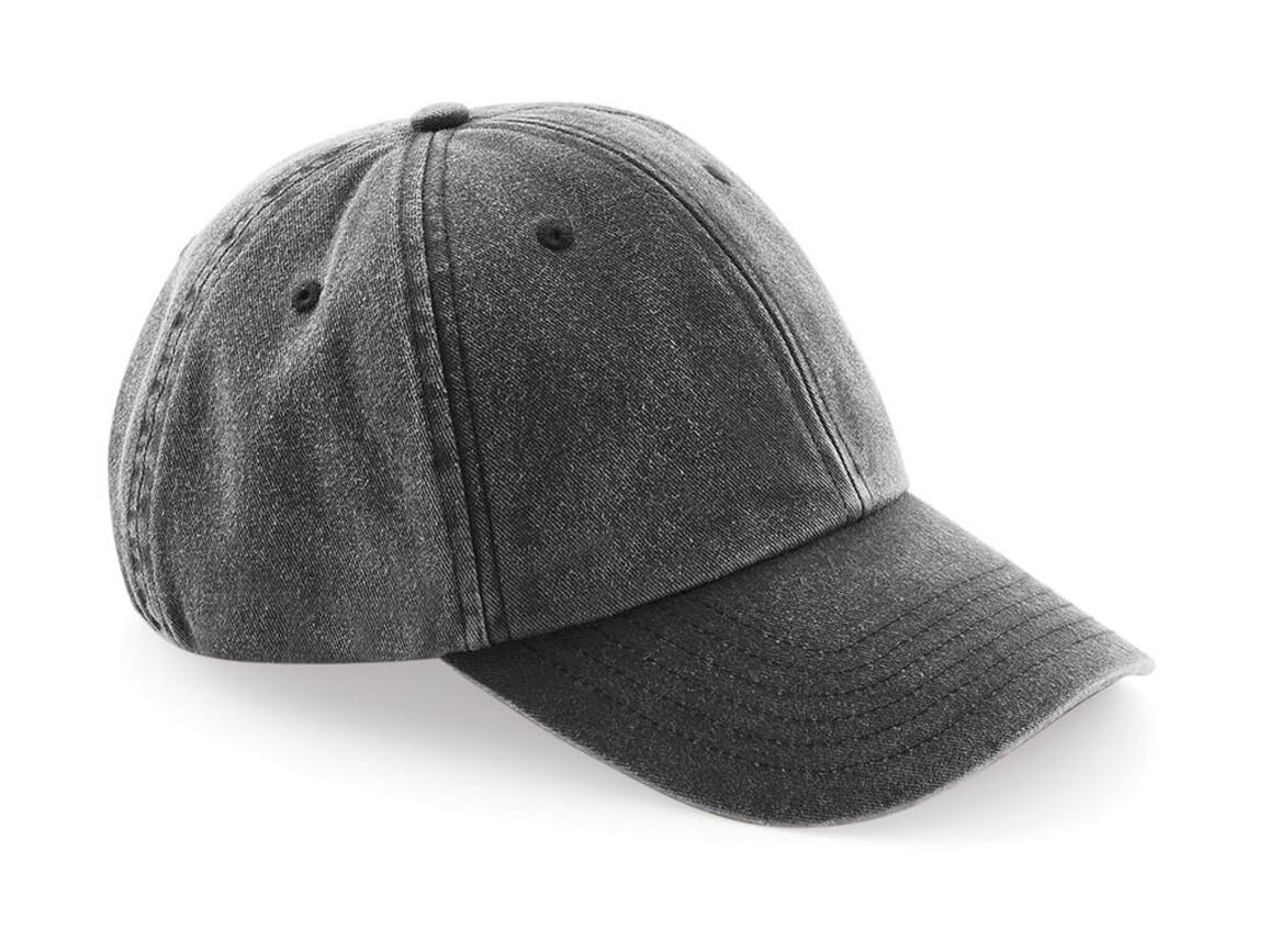 Beechfield Low Profile Vintage Cap, Vintage Black, One Size bedrucken, Art.-Nr. 067691120