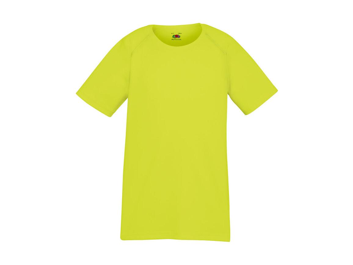 Fruit of the Loom Kids` Performance T, Bright Yellow, 128 (7-8) bedrucken, Art.-Nr. 072016025
