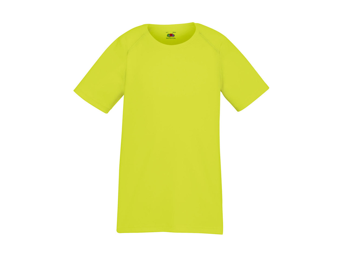 Fruit of the Loom Kids` Performance T, Bright Yellow, 140 (9-11) bedrucken, Art.-Nr. 072016026