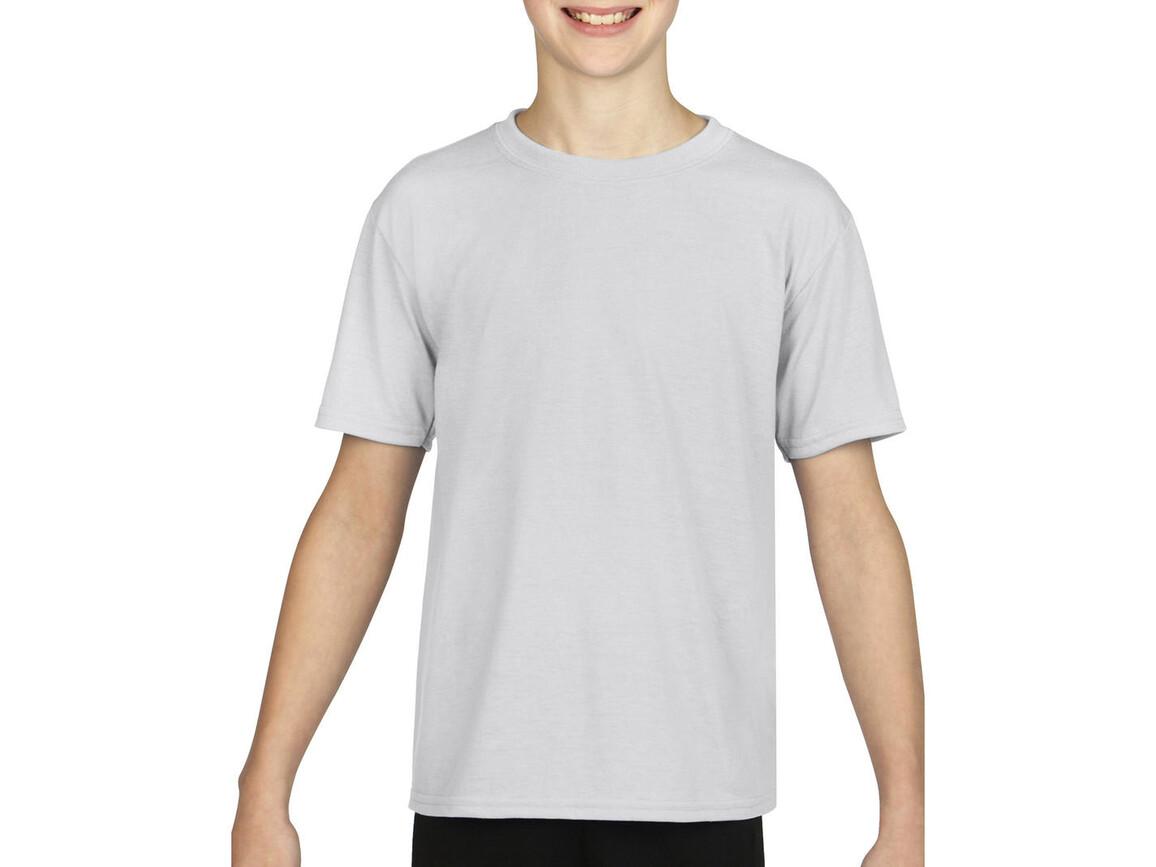 Gildan Gildan Performance® Youth T-Shirt, White, S (116/128) bedrucken, Art.-Nr. 072090003