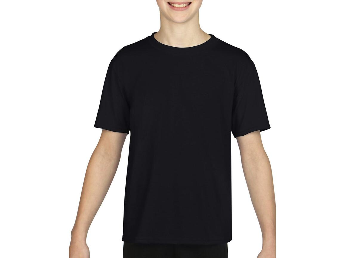 Gildan Gildan Performance® Youth T-Shirt, Black, M (140/152) bedrucken, Art.-Nr. 072091014