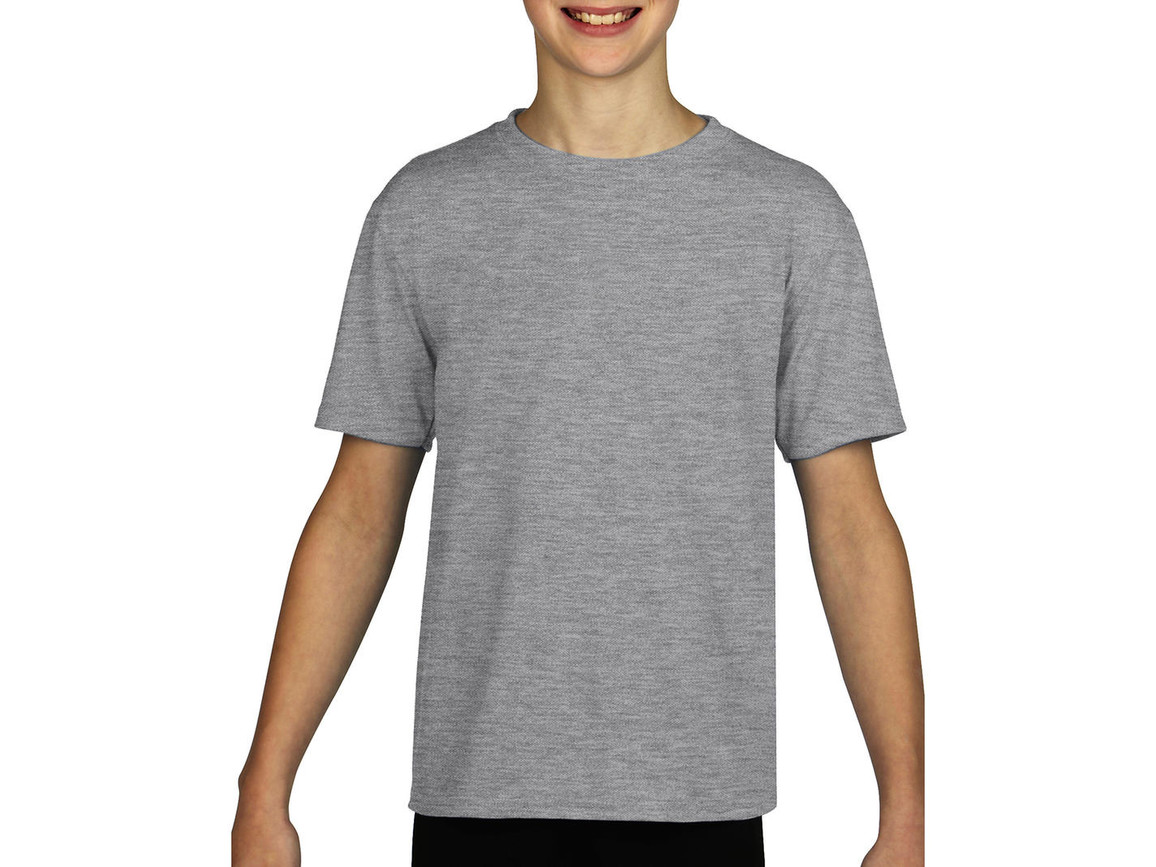 Gildan Gildan Performance® Youth T-Shirt, Sport Grey, S (116/128) bedrucken, Art.-Nr. 072091253
