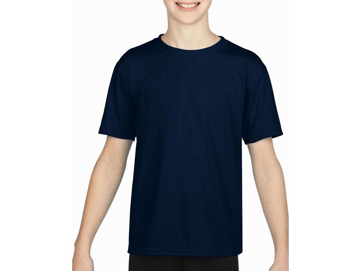 Gildan Gildan Performance® Youth T-Shirt, Navy, S (116/128) bedrucken, Art.-Nr. 072092003