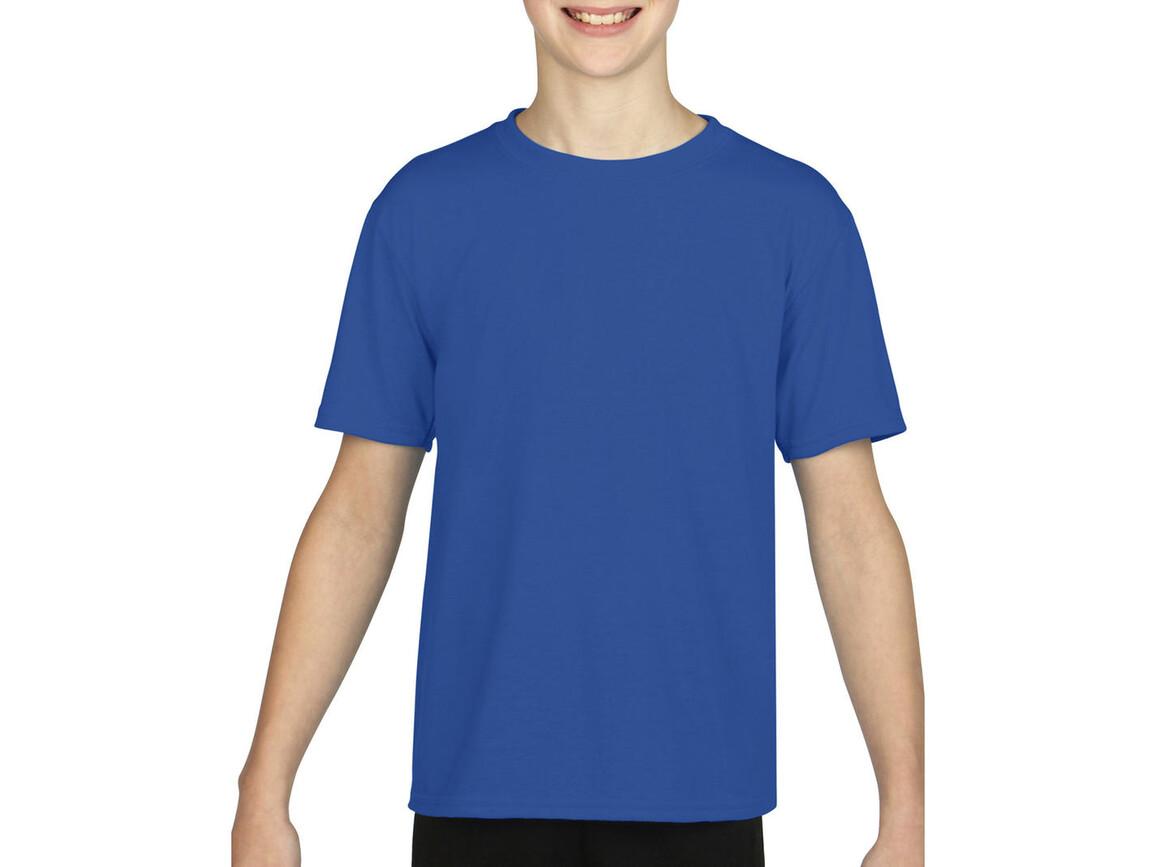 Gildan Gildan Performance® Youth T-Shirt, Royal, M (140/152) bedrucken, Art.-Nr. 072093004