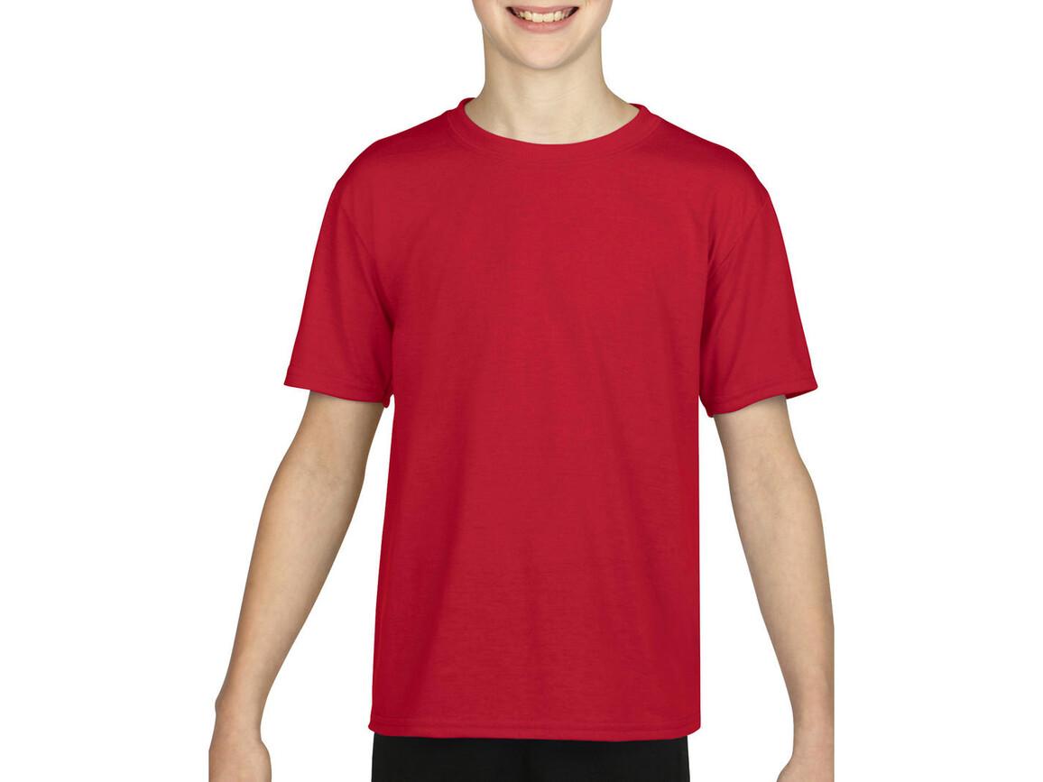 Gildan Gildan Performance® Youth T-Shirt, Red, M (140/152) bedrucken, Art.-Nr. 072094004