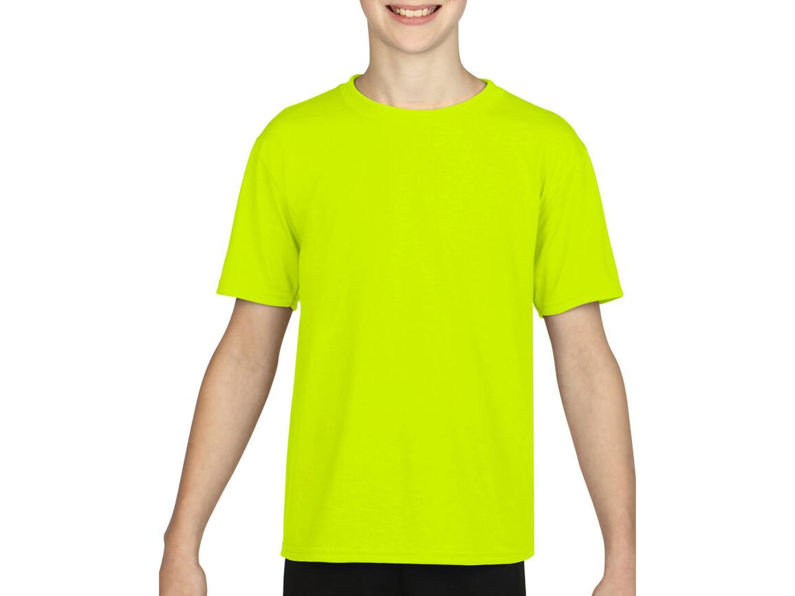Gildan Gildan Performance® Youth T-Shirt, Safety Green, S (116/128) bedrucken, Art.-Nr. 072095113