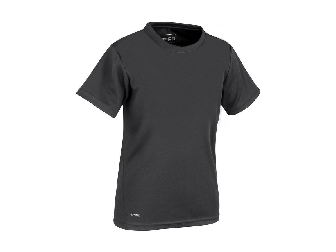 Result Junior Quick Dry T-Shirt, Black, XL (11-12, 152) bedrucken, Art.-Nr. 072331016