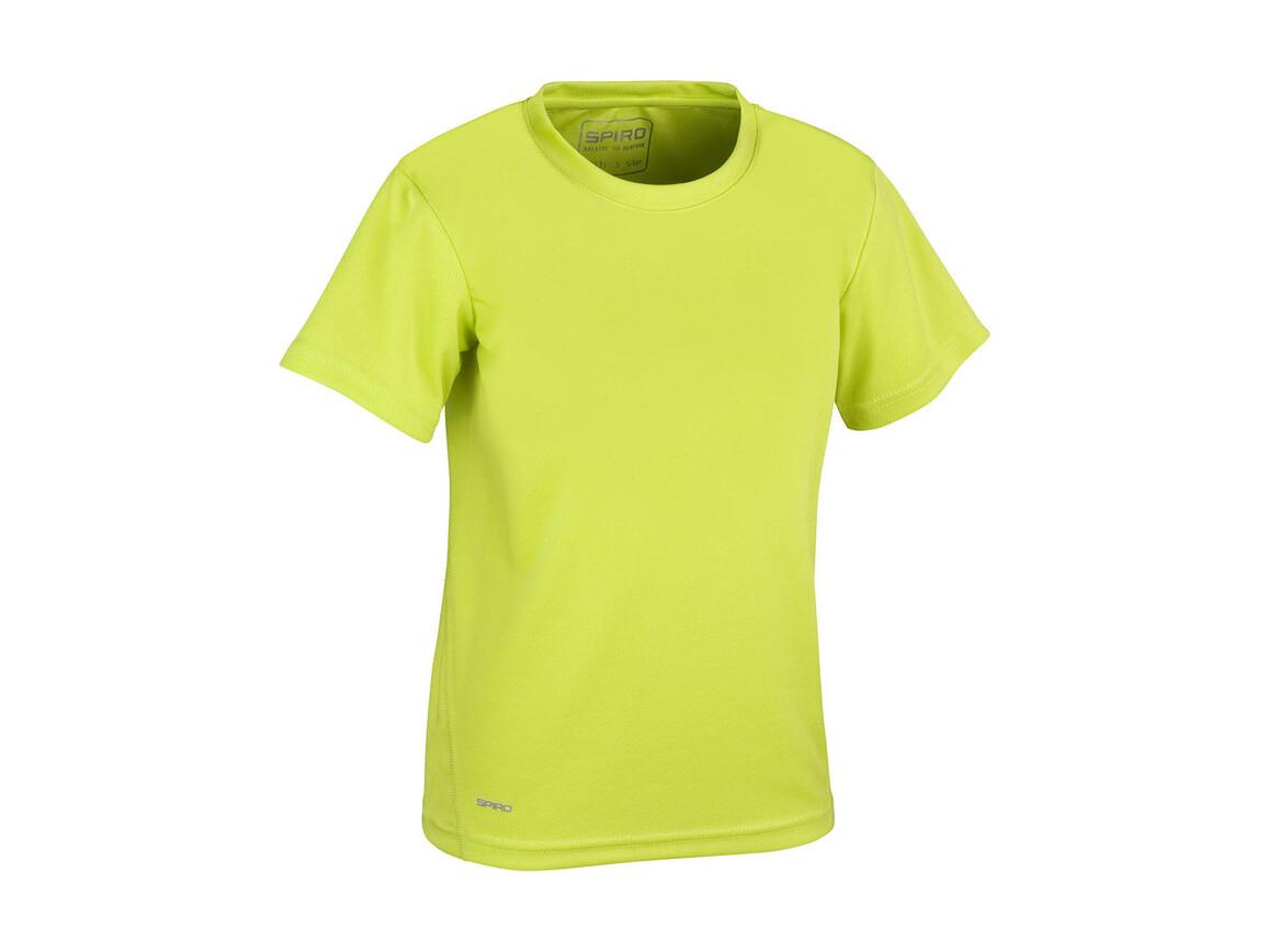 Result Junior Quick Dry T-Shirt, Lime Green, M (7-8, 128) bedrucken, Art.-Nr. 072335214