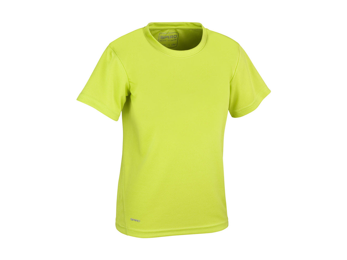 Result Junior Quick Dry T-Shirt, Lime Green, S (5-6, 116) bedrucken, Art.-Nr. 072335213
