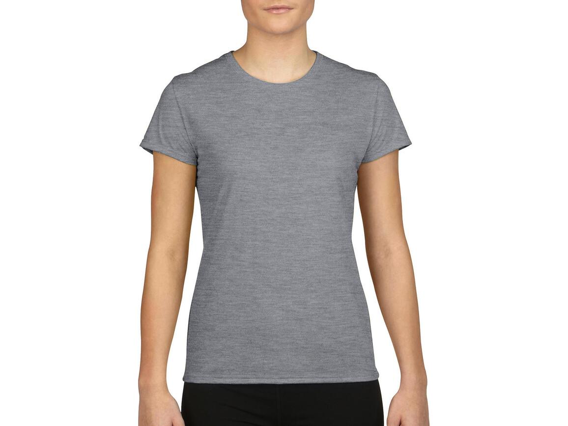 Gildan Gildan Performance® Ladies` T-Shirt, Sport Grey, XL bedrucken, Art.-Nr. 076091256