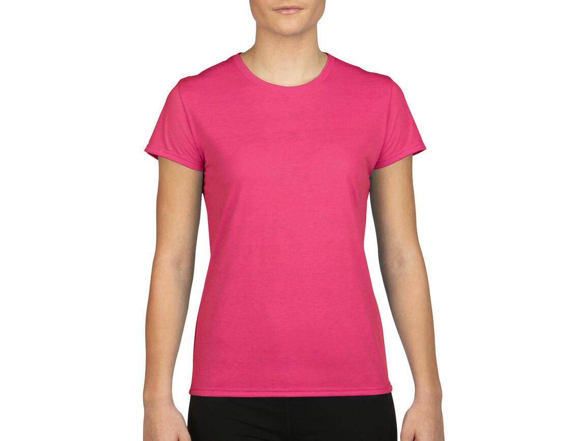 Gildan Gildan Performance® Ladies` T-Shirt, Safety Pink, XS bedrucken, Art.-Nr. 076094192