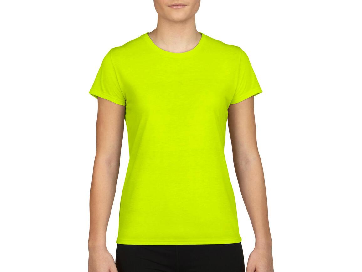 Gildan Gildan Performance® Ladies` T-Shirt, Safety Green, XS bedrucken, Art.-Nr. 076095112