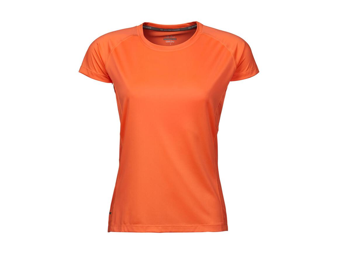 Tee Jays COOLdry Ladies` Tee, Sun Orange, L bedrucken, Art.-Nr. 077544115