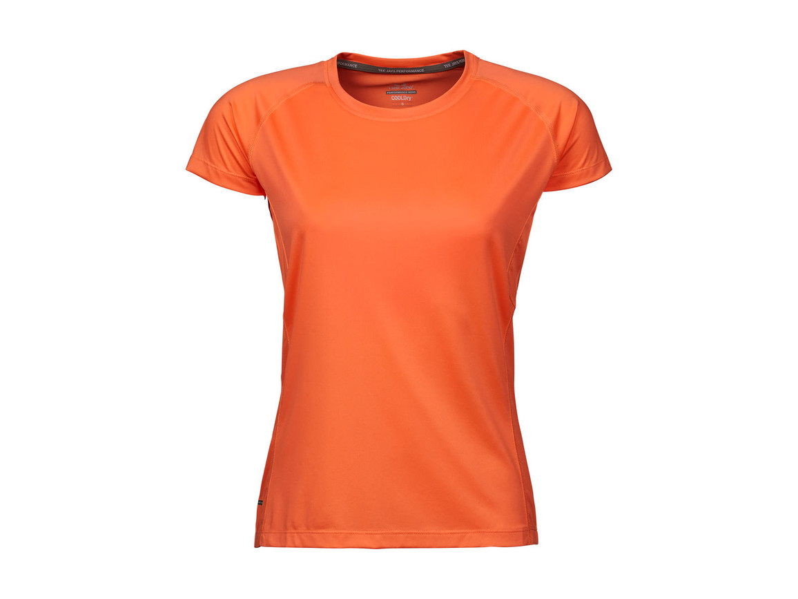 Tee Jays COOLdry Ladies` Tee, Sun Orange, S bedrucken, Art.-Nr. 077544113