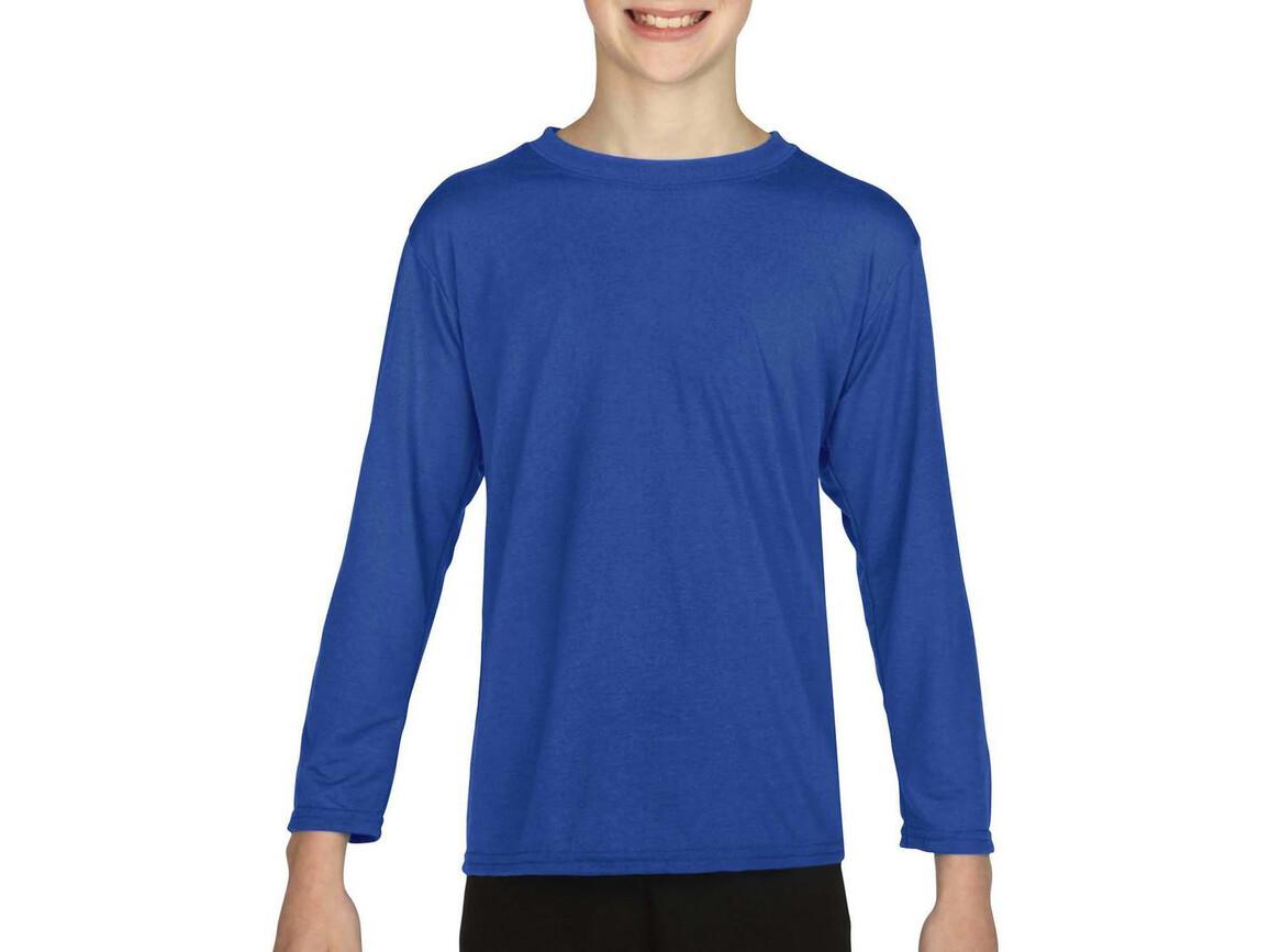 Gildan Gildan Performance® Youth LS T-Shirt, Royal, XL (176) bedrucken, Art.-Nr. 078093006