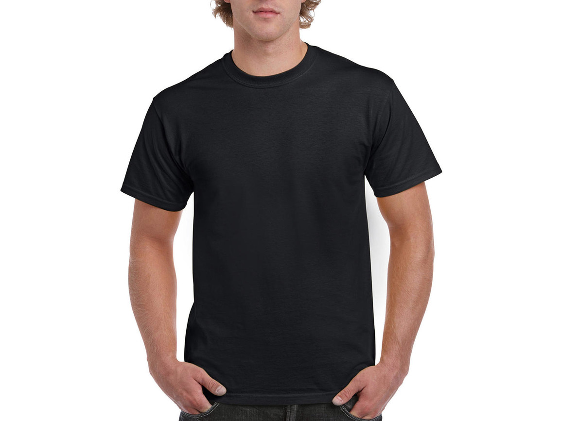 Gildan Ultra Cotton Adult T-Shirt, Black, 2XL bedrucken, Art.-Nr. 102091017