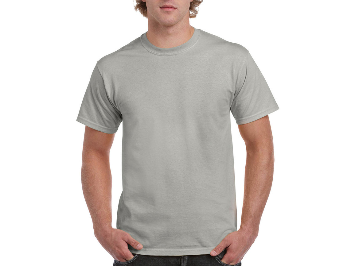 Gildan Ultra Cotton Adult T-Shirt, Ice Grey, S bedrucken, Art.-Nr. 102091083