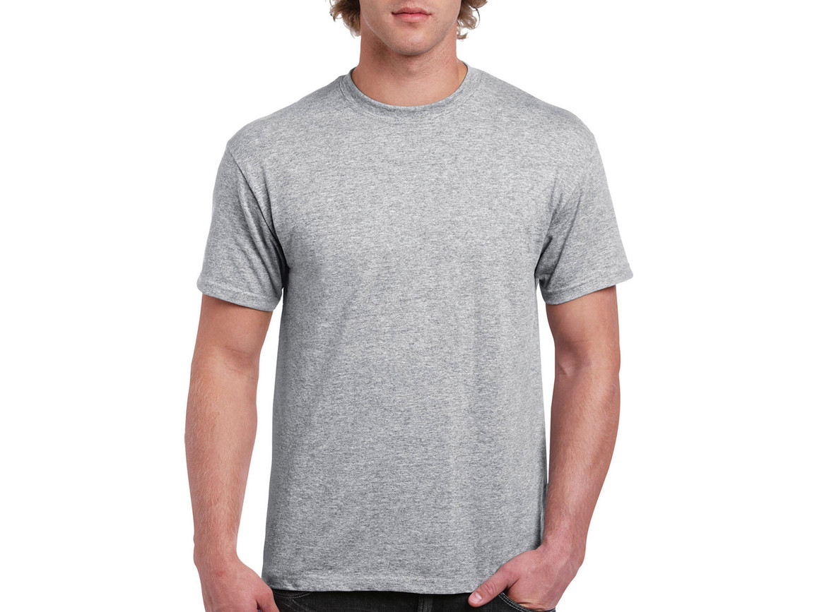 Gildan Ultra Cotton Adult T-Shirt, Sport Grey, 4XL bedrucken, Art.-Nr. 102091259