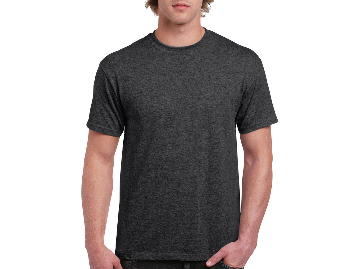Gildan Ultra Cotton Adult T-Shirt, Dark Heather, S bedrucken, Art.-Nr. 102091263