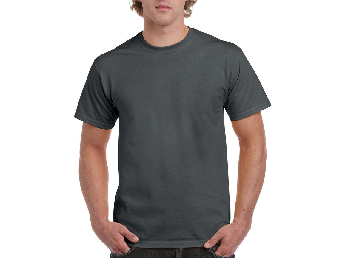 Gildan Ultra Cotton Adult T-Shirt, Charcoal, L bedrucken, Art.-Nr. 102091305