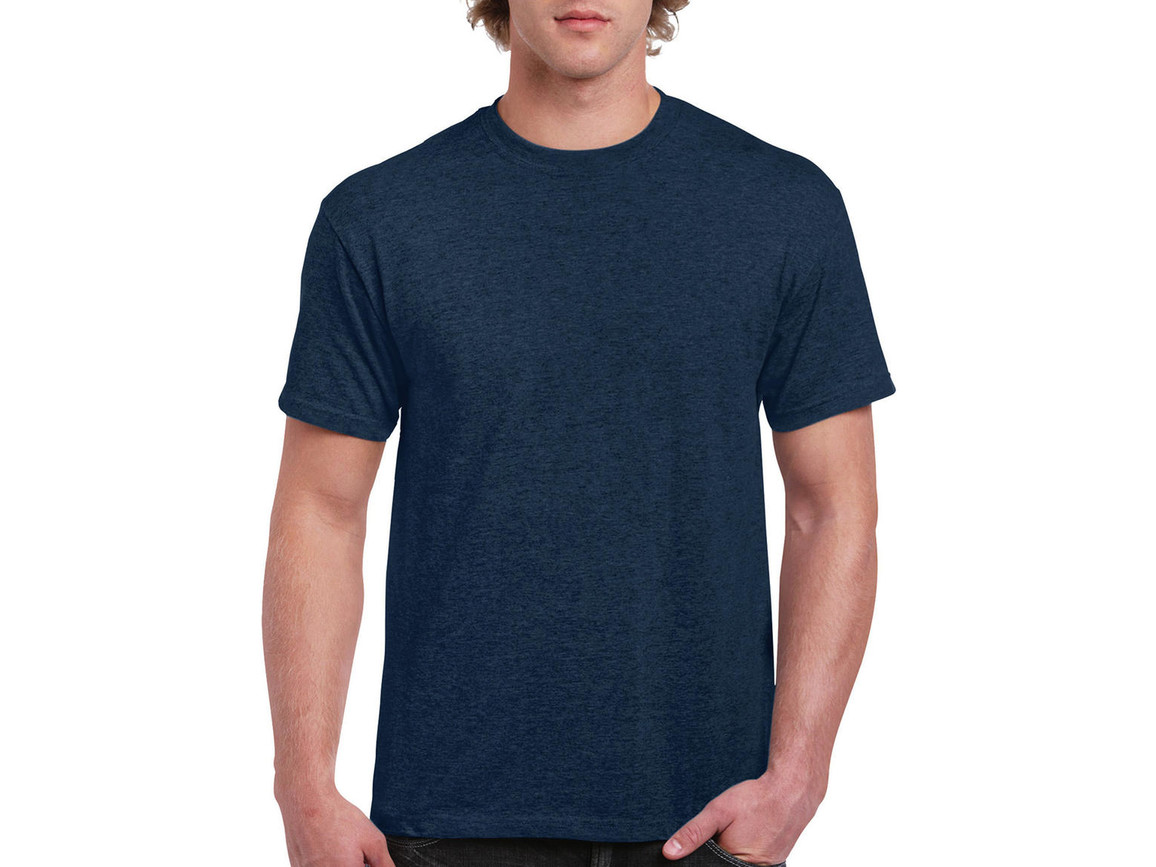 Gildan Ultra Cotton Adult T-Shirt, Heather Navy, S bedrucken, Art.-Nr. 102092013