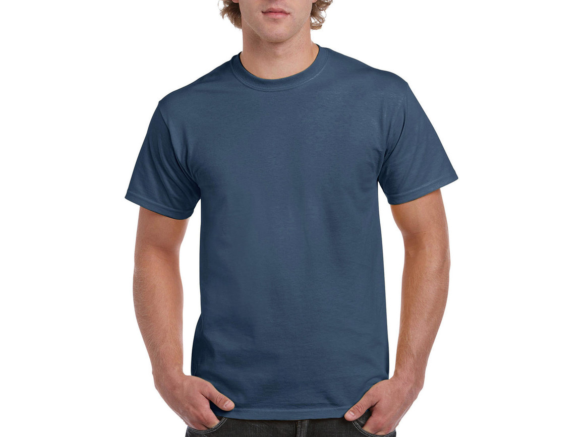 Gildan Ultra Cotton Adult T-Shirt, Indigo Blue, M bedrucken, Art.-Nr. 102093184