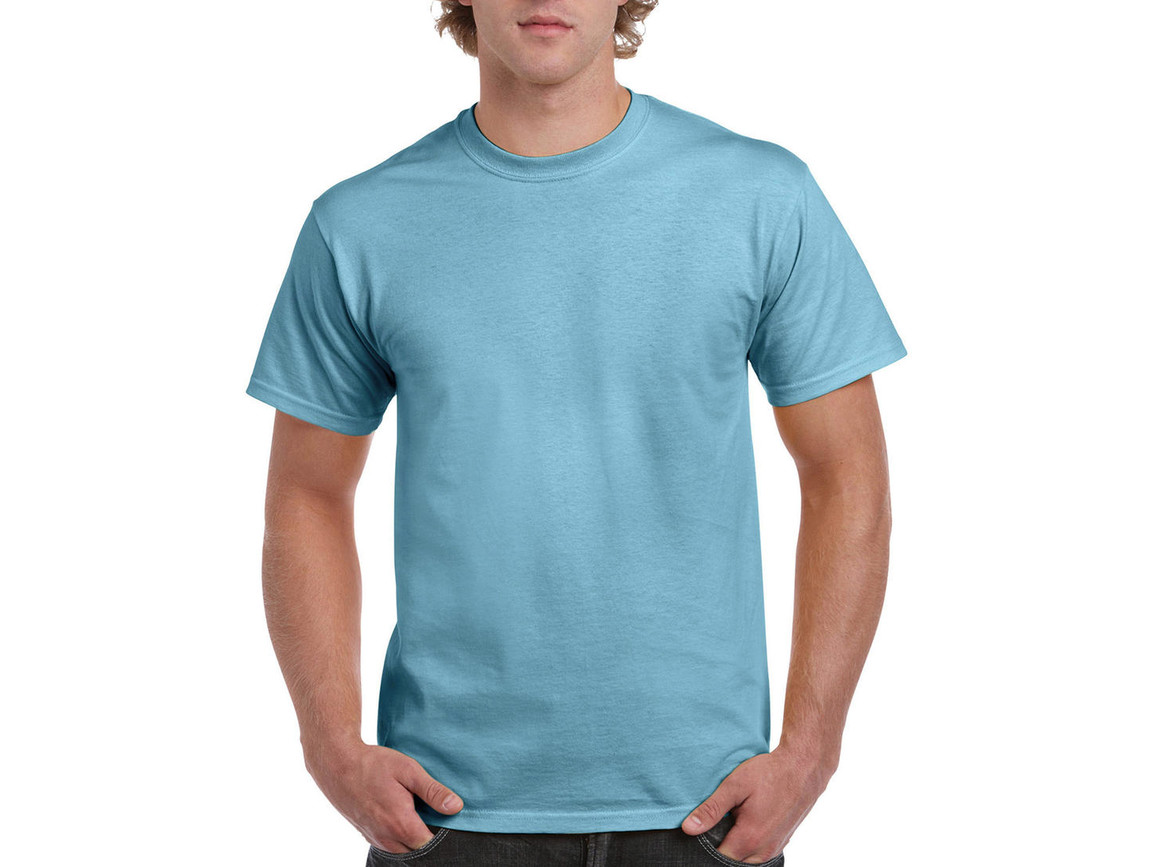 Gildan Ultra Cotton Adult T-Shirt, Sky, L bedrucken, Art.-Nr. 102093205