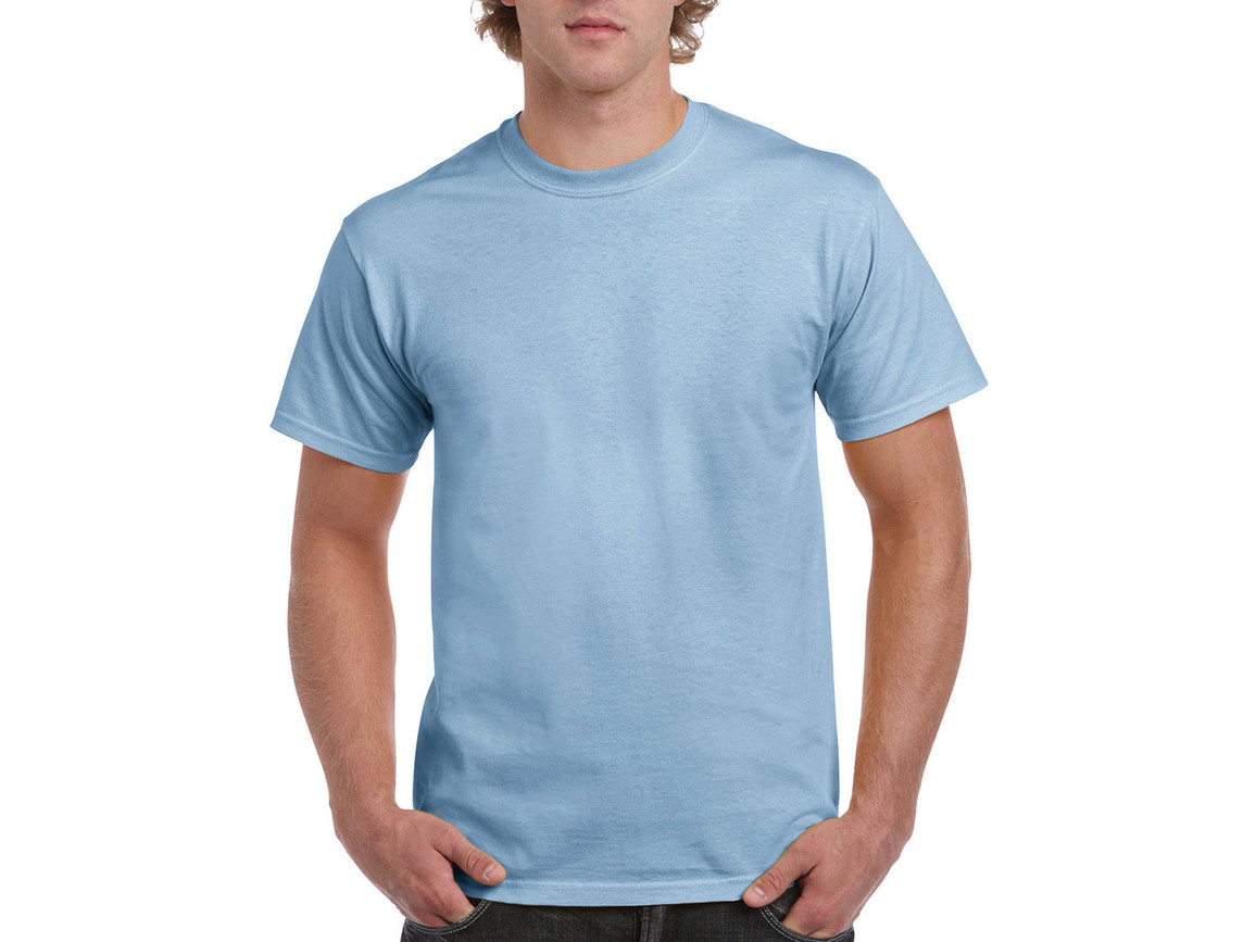 Gildan Ultra Cotton Adult T-Shirt, Light Blue, M bedrucken, Art.-Nr. 102093214