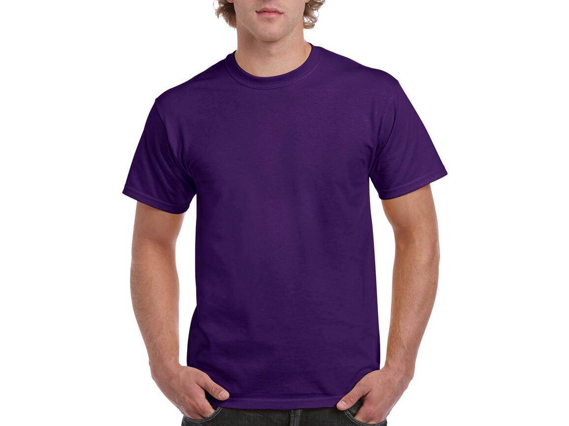 Gildan Ultra Cotton Adult T-Shirt, Purple, 2XL bedrucken, Art.-Nr. 102093497