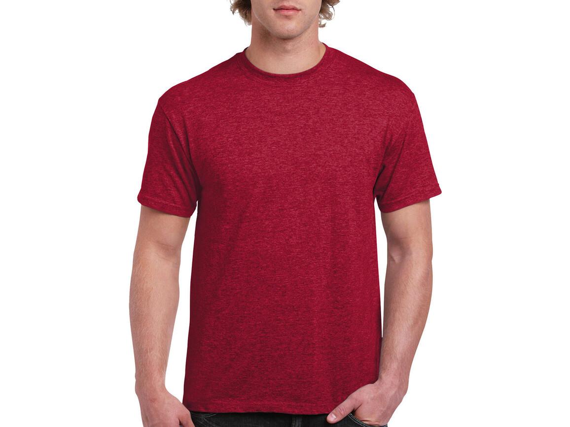 Gildan Ultra Cotton Adult T-Shirt, Heather Cardinal, XL bedrucken, Art.-Nr. 102094046