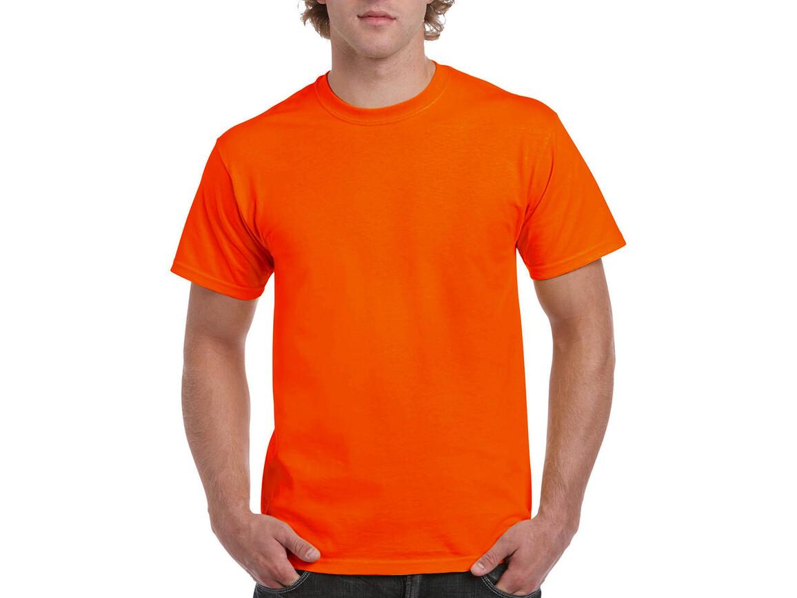 Gildan Ultra Cotton Adult T-Shirt, Safety Orange, M bedrucken, Art.-Nr. 102094054