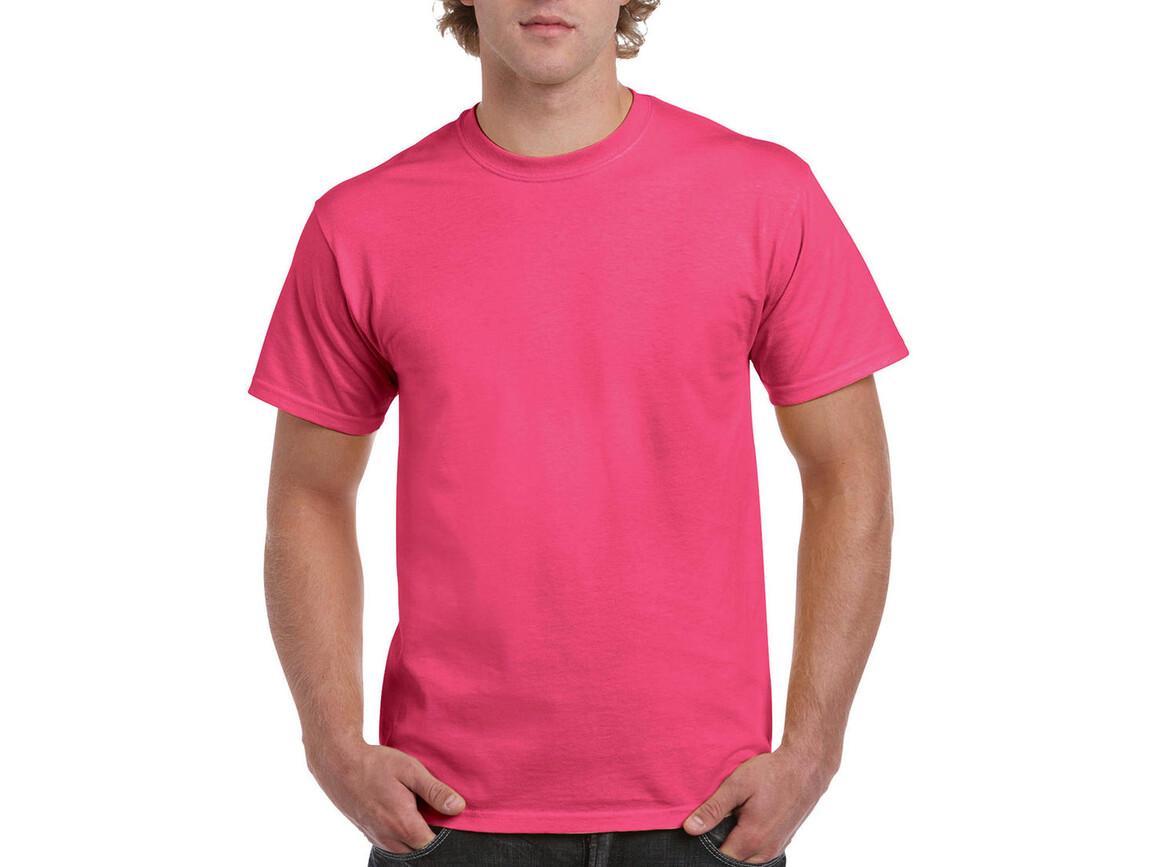 Gildan Ultra Cotton Adult T-Shirt, Safety Pink, L bedrucken, Art.-Nr. 102094195