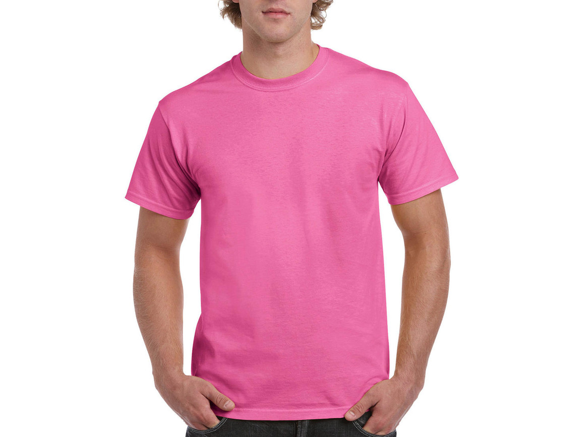 Gildan Ultra Cotton Adult T-Shirt, Azalea, M bedrucken, Art.-Nr. 102094254