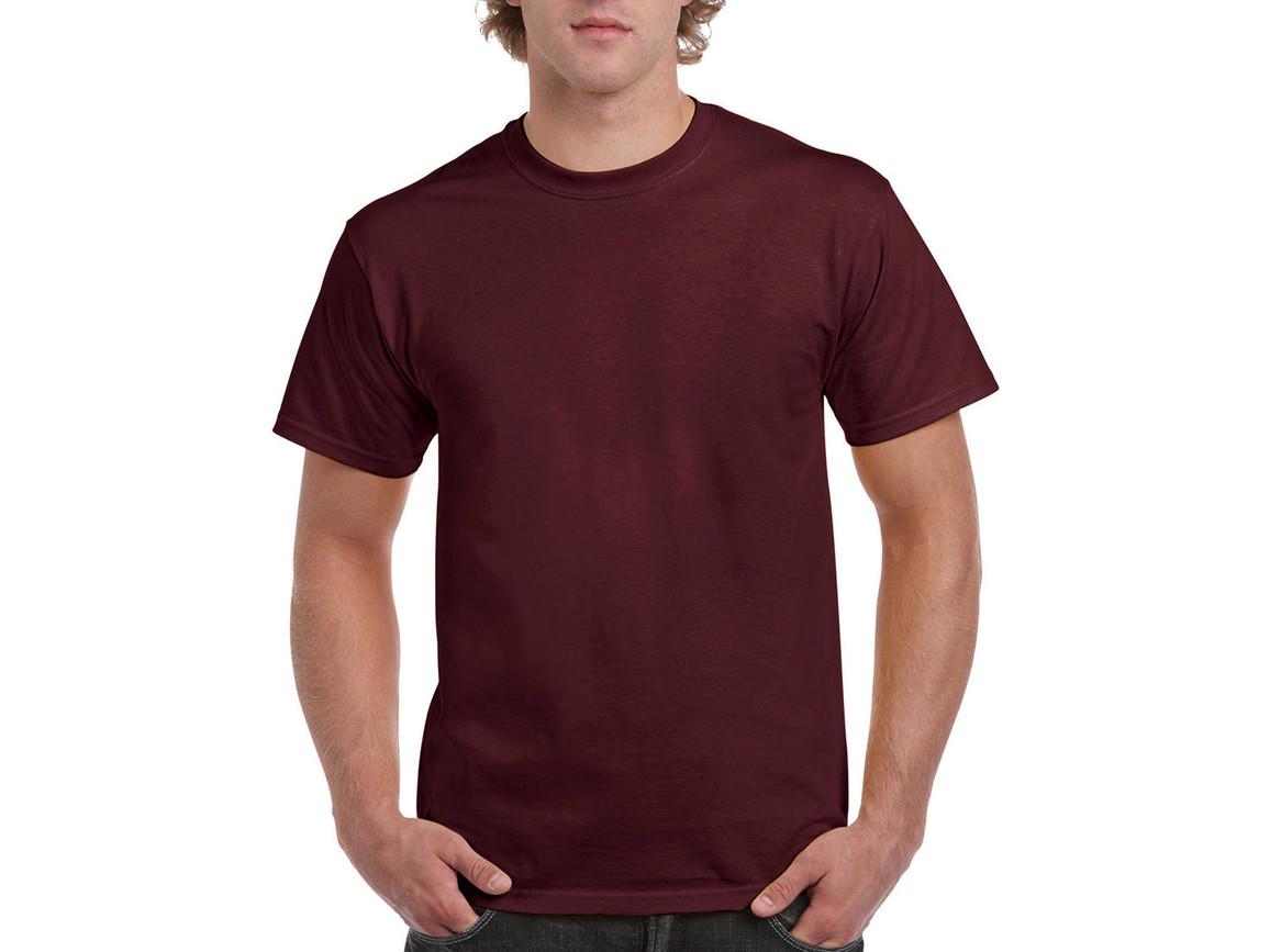 Gildan Ultra Cotton Adult T-Shirt, Maroon, 2XL bedrucken, Art.-Nr. 102094457