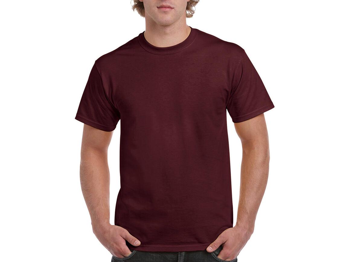 Gildan Ultra Cotton Adult T-Shirt, Maroon, M bedrucken, Art.-Nr. 102094454