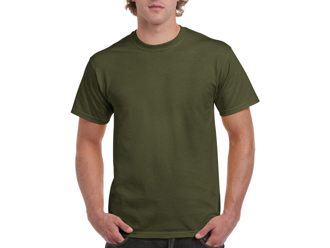 Gildan Ultra Cotton Adult T-Shirt, Military Green, 2XL bedrucken, Art.-Nr. 102095067