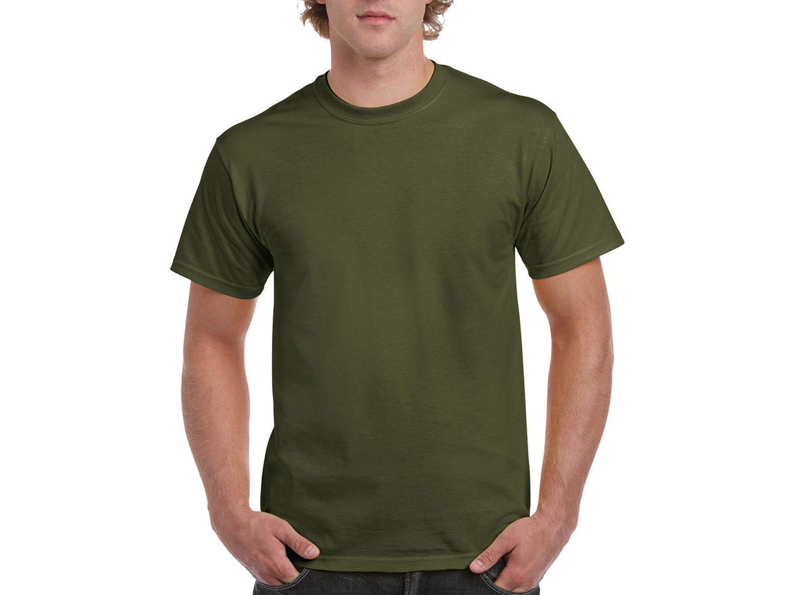 Gildan Ultra Cotton Adult T-Shirt, Military Green, M bedrucken, Art.-Nr. 102095064