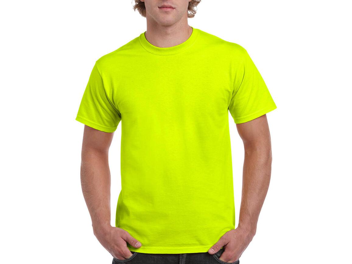 Gildan Ultra Cotton Adult T-Shirt, Safety Green, L bedrucken, Art.-Nr. 102095115